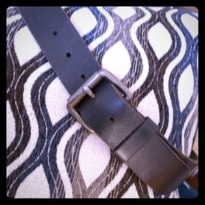 AE Black Leather Belt